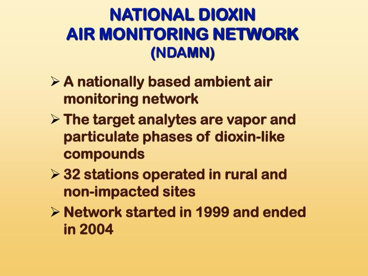 NATIONAL DIOXIN