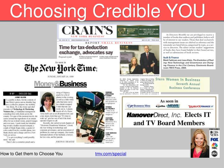choosing credible you