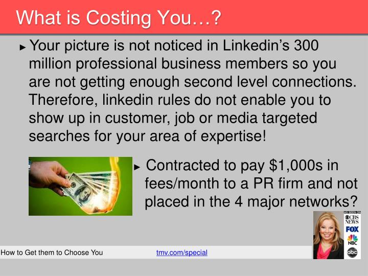 What is Costing You…?