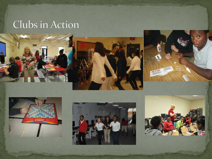 Clubs in Action