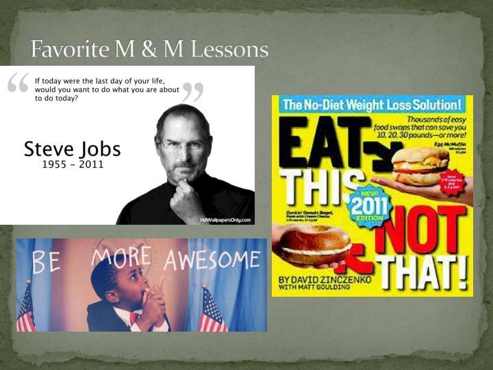 Favorite M & M Lessons