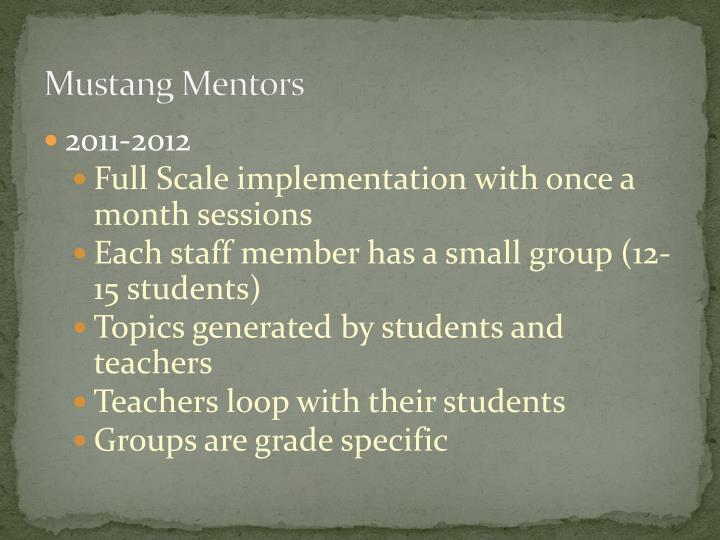 Mustang Mentors