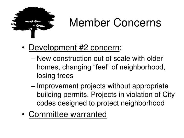 Member Concerns
