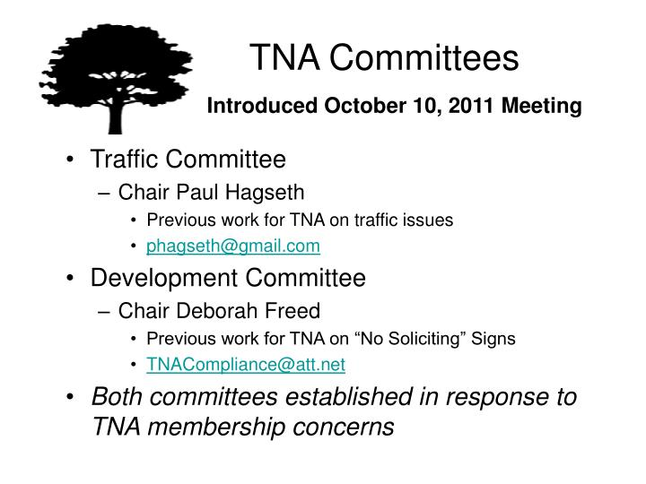 TNA Committees