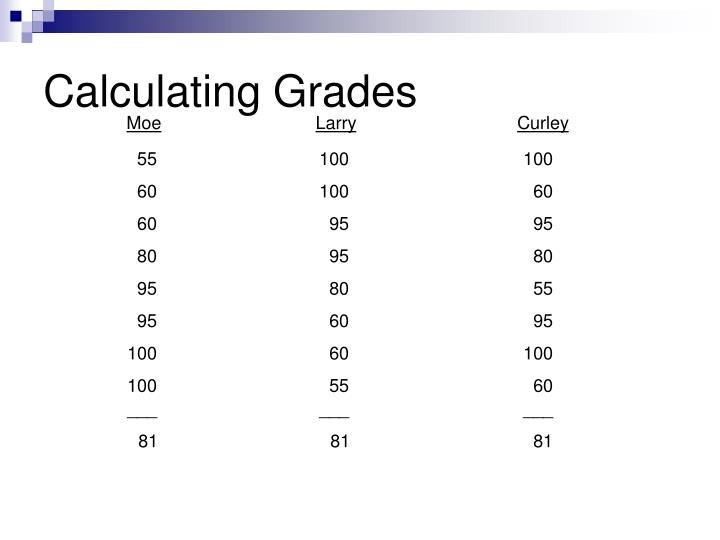 Calculating Grades