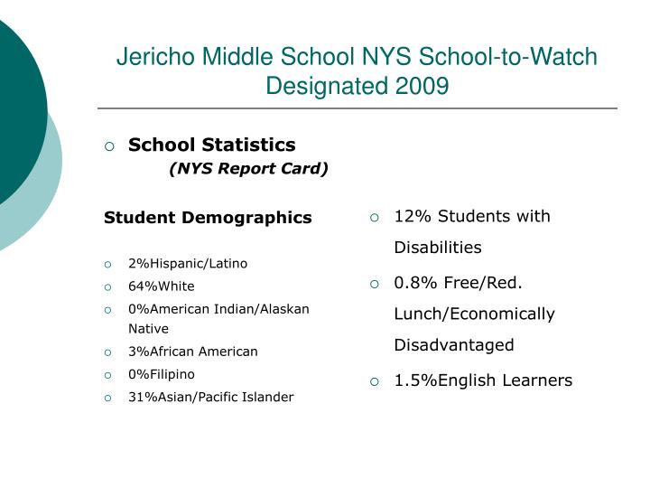 School Statistics