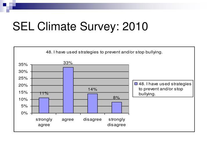 SEL Climate Survey: 2010