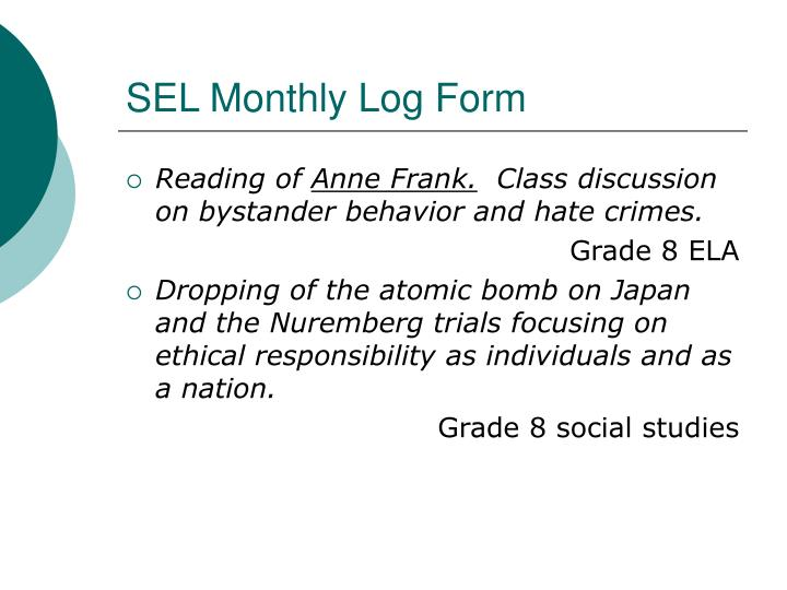 SEL Monthly Log Form