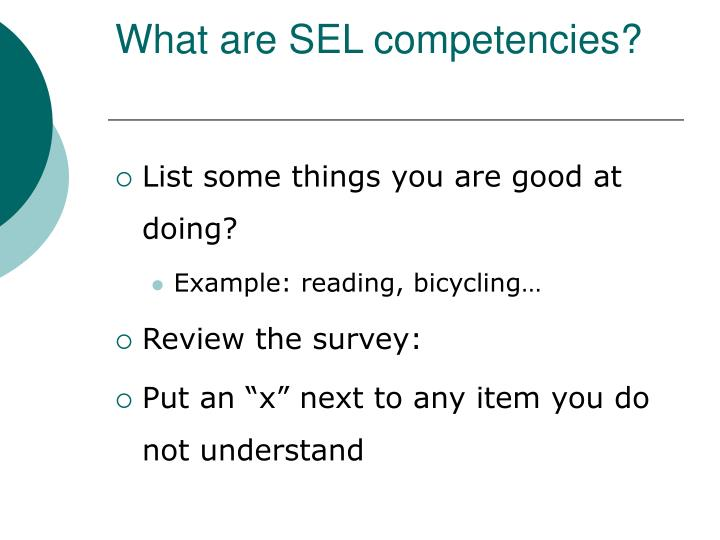 What are SEL competencies?