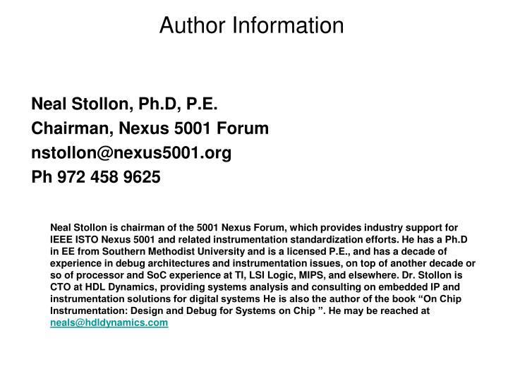 Author Information