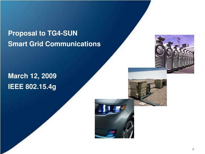 Proposal to TG4-SUN