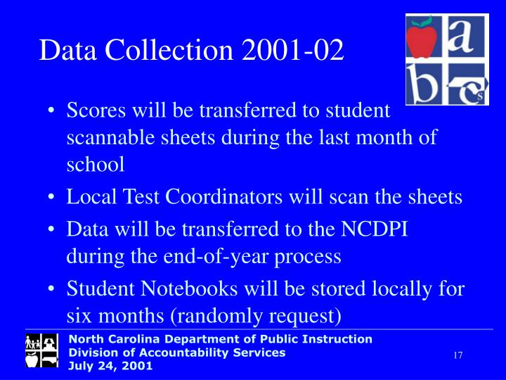 Data Collection 2001-02