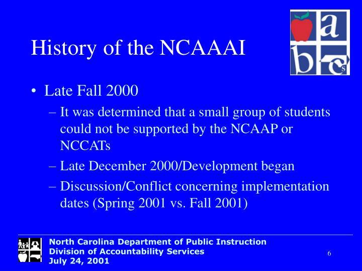 Historyof the NCAAAI