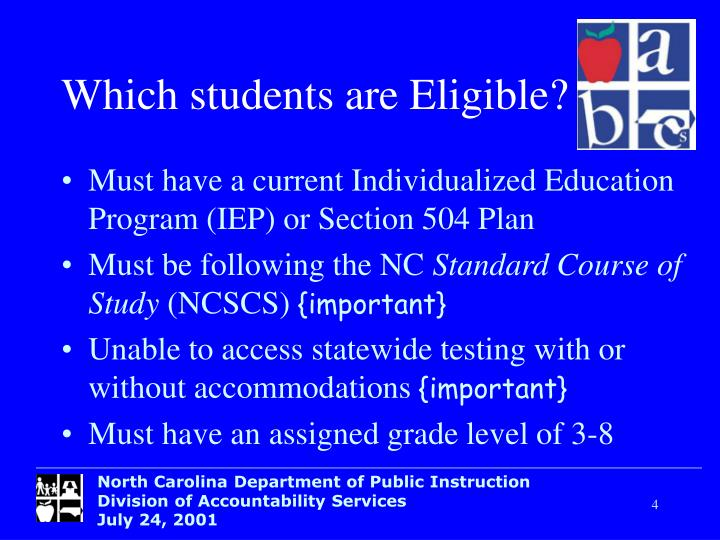 Which students are Eligible?
