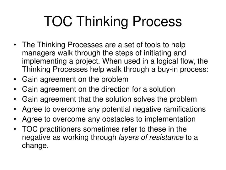 TOC Thinking Process
