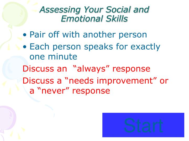 Assessing Your Social and Emotional Skills