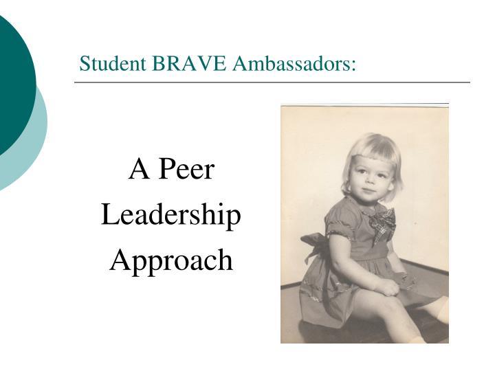 Student BRAVE Ambassadors: