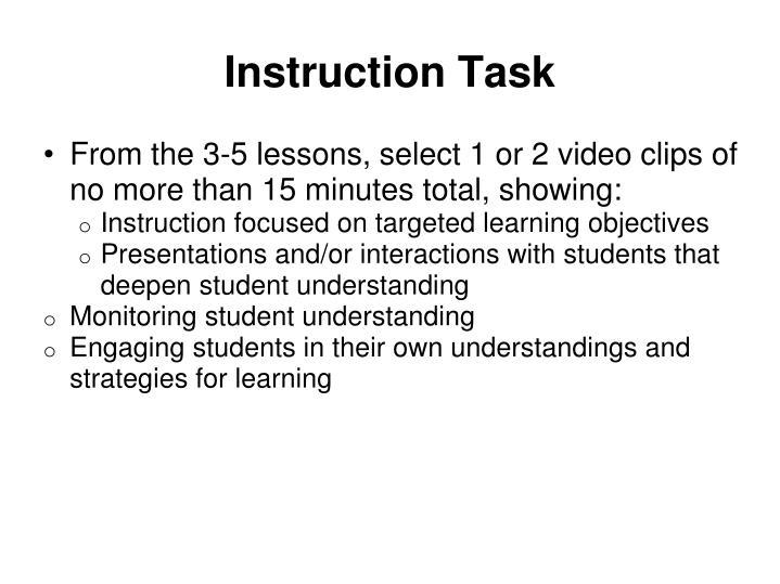Instruction Task