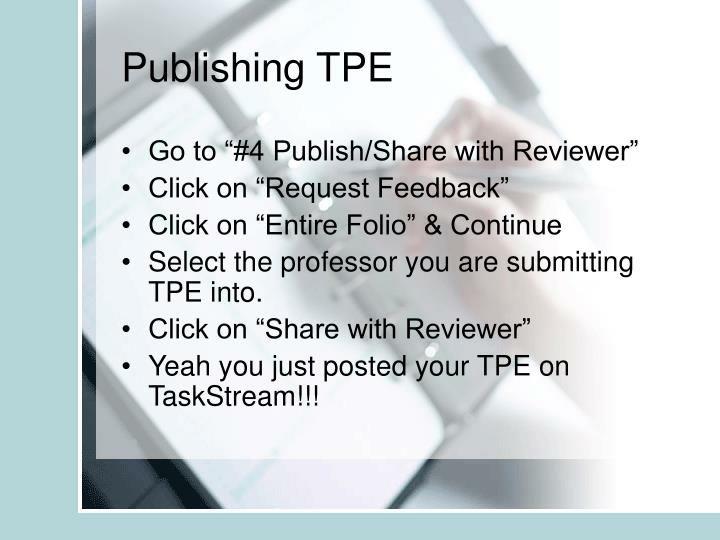 Publishing TPE