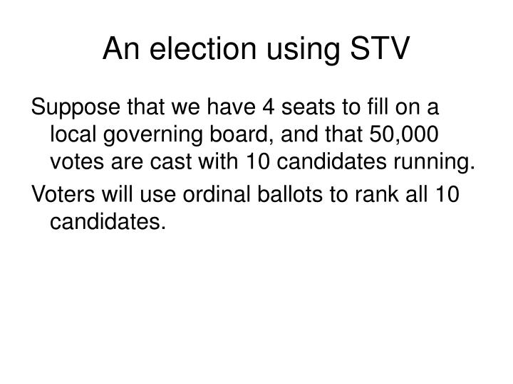 An election using STV