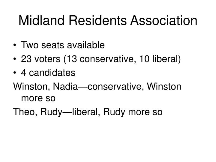 Midland Residents Association
