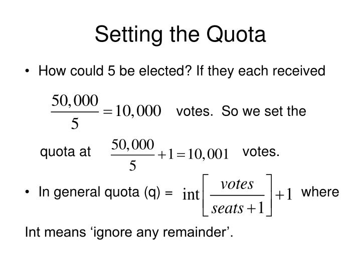 Setting the Quota