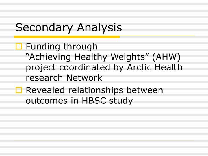 Secondary Analysis