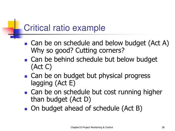 Critical ratio example