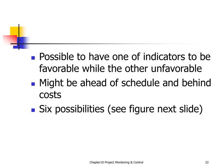 Possible to have one of indicators to be favorable while the other unfavorable