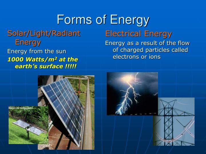 Solar/Light/Radiant Energy