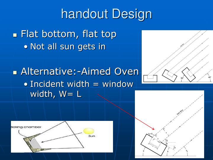 handout Design