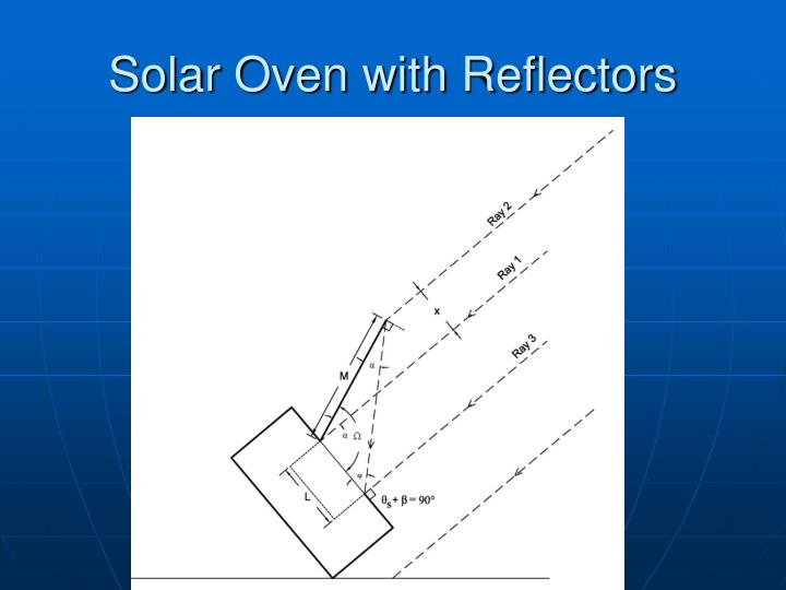 Solar Oven with Reflectors