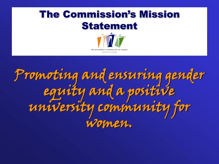 The Commission's Mission Statement