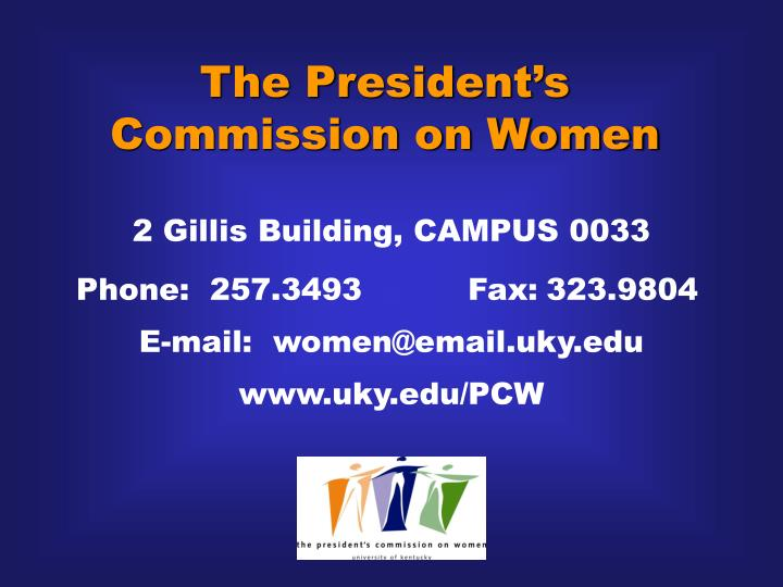 The President's Commission on Women