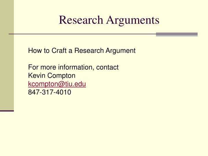 Research Arguments