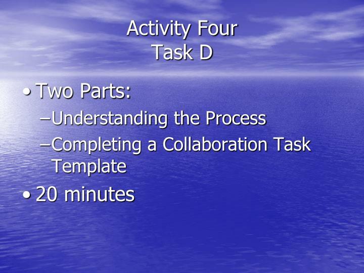 Activity Four