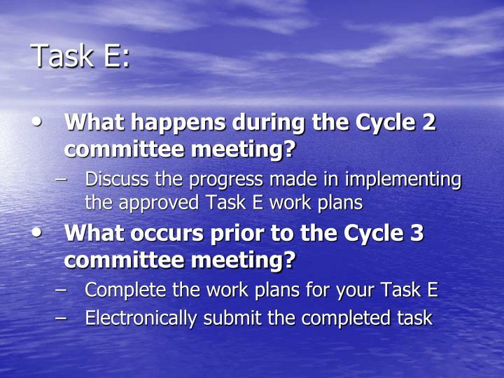 Task E: