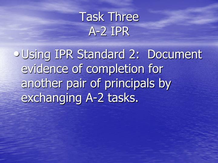 Task Three