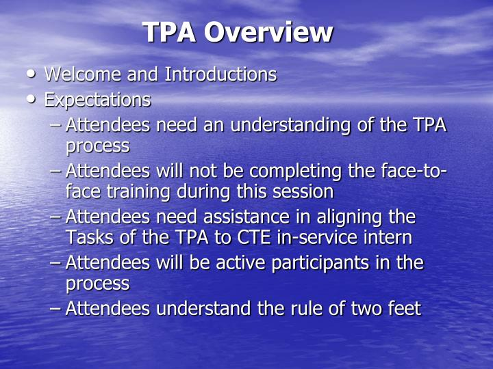 TPA Overview