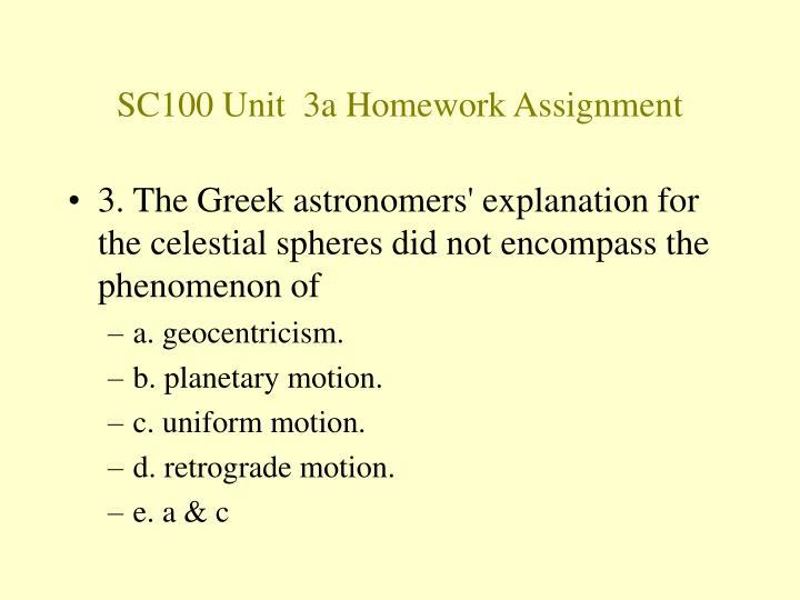 SC100 Unit  3a Homework Assignment