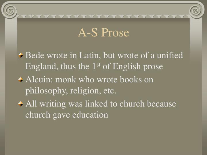 A-S Prose