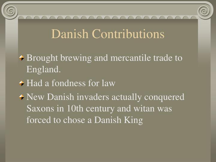 Danish Contributions