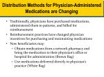 distribution methods for physician administered medications are changing