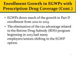 enrollment growth in egwps with prescription drug coverage cont
