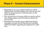 phase ii invoice enhancements