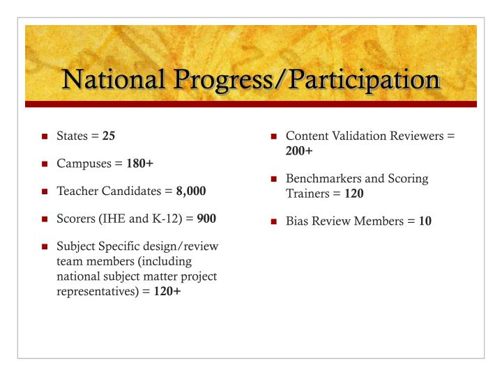 National Progress/Participation