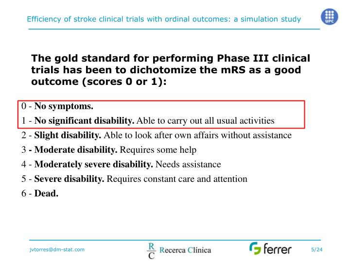 The gold standard for performing Phase III clinical trials has been to dichotomize the