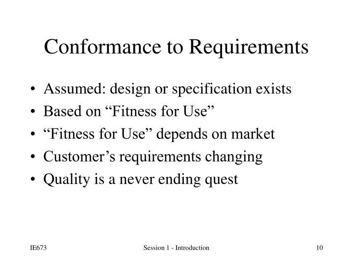 Assumed: design or specification exists