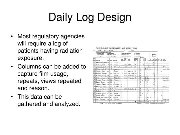 Daily Log Design