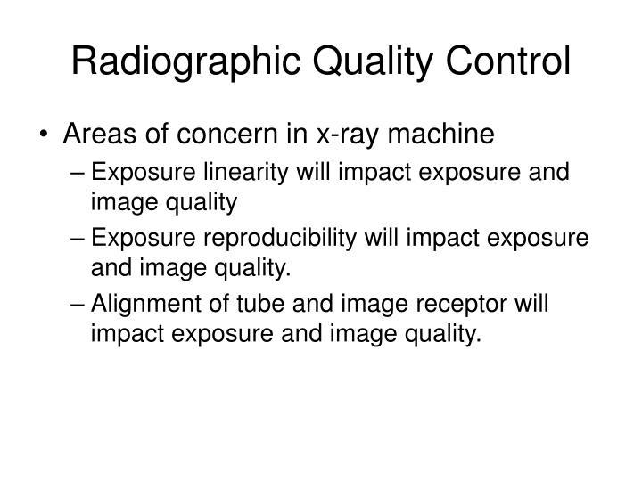 Radiographic Quality Control